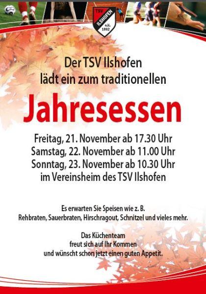 Plakat TSV Jahresessen